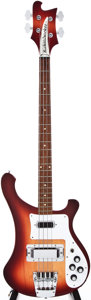 Musical Instruments:Bass Guitars, 1988 Rickenbacker 4001 V63 Fireglo Electric Bass Guitar, #B19702...