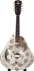 Musical Instruments:Banjos, Mandolins, & Ukes, Late 1930s National 2 Nickel-Plated Mandolin, #B1181....