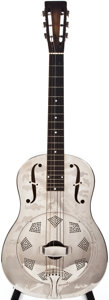Musical Instruments:Acoustic Guitars, 1930-33 National Style 1 Nickel-Plate Resonator Guitar, #S2600....