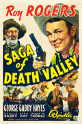 "Movie Posters:Western, Saga of Death Valley (Republic, 1939). One Sheet (27"" X 41"").. ..."