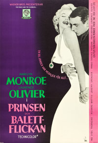 """The Prince and the Showgirl (Warner Brothers, 1957). Swedish One Sheet (27"""" X 39.25"""")"""