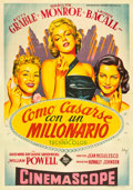 """Movie Posters:Comedy, How to Marry a Millionaire (20th Century Fox, 1954). Spanish OneSheet (27.75"""" X 39.5"""").. ..."""
