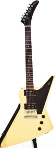 Musical Instruments:Electric Guitars, 1983 Gibson Explorer White Solid Body Electric Guitar,#82593567....