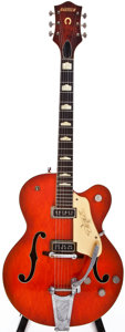 Musical Instruments:Electric Guitars, 1957 Gretsch 6120 Orange Semi-Hollow Body Electric Guitar, #28563....