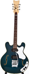 Musical Instruments:Electric Guitars, 1971 Mosrite Combo Blue Semi-Hollow Body Electric Guitar,#ET624....