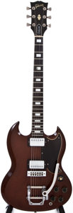 Musical Instruments:Electric Guitars, 1974 Gibson SG Deluxe Walnut Solid Body Electric Guitar, #204665....