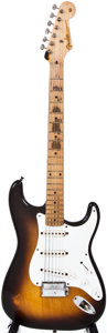 Musical Instruments:Electric Guitars, 1956 Fender Stratocaster Sunburst Solid Body Electric Guitar, #14276....