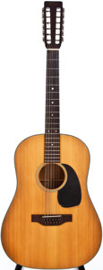 Musical Instruments:Acoustic Guitars, 1969 Martin D-12-20 Natural 12-String Acoustic Guitar, #243546....