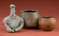 American Indian Art:Pottery, Colima Figurine, Chupicuaro Jar, and Michoacan Jar... (Total: 3Items)
