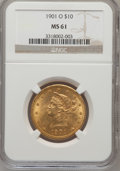 Liberty Eagles: , 1901-O $10 MS61 NGC. NGC Census: (113/118). PCGS Population(81/174). Mintage: 72,041. Numismedia Wsl. Price for problem fr...