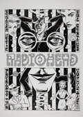 Music Memorabilia:Original Art, Radiohead Centrum Worcester Concert Poster Original Art by WardSutton (1989)....