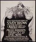 Music Memorabilia:Original Art, Savoy Brown and Uriah Heep Concert Poster Original Art by Bob Mass (Pacific Presentations, 1978)....