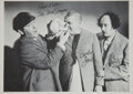 Movie/TV Memorabilia:Autographs and Signed Items, Larry Fine Autographed Three Stooges Photo....