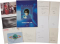 Music Memorabilia:Autographs and Signed Items, Yoko Ono Tour Book and Signed Greeting Cards.... (Total: 8 )