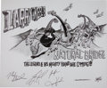 Music Memorabilia:Original Art, Larry Keel and Natural Bridges Concert Poster Original Art (2008)....