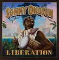 Music Memorabilia:Original Art, Sonny Okosun Liberation Original Album Cover Art by Carl Lundgren (c. 1984)....