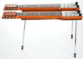 Musical Instruments:Lap Steel Guitars, 1950s Magnatone Double Eight Refinished Light Brown Lap SteelGuitar #49402...