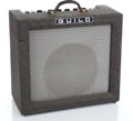 Musical Instruments:Amplifiers, PA, & Effects, 1960s Guilb 66 Grey Guitar Amplifier #575...