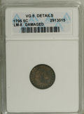 Early Half Dimes: , 1795 H10C --Damaged--ANACS. VG8 Details. LM-8. NGC Census: (5/374).PCGS Population (6/440). Mintage: 78,600. Numismedia Wsl...