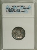 Early Dimes: , 1805 10C 4 Berries--Cleaned, Corroded--ANACS. VF20 Details. JR-2.NGC Census: (20/212). PCGS Population (19/191). Mintage: ...