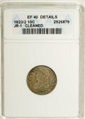 Bust Dimes: , 1823/2 10C Small Es--Cleaned--ANACS. XF40 Details. JR-1.NGC Census:(4/67). PCGS Population (1/50). Mintage: 440,000. Numis...