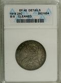 Bust Quarters: , 1818 25C --Cleaned--ANACS. XF45 Details. B-8. NGC Census: (29/201). PCGS Population (23/164). Mintage: 361,174. Numismedia W...