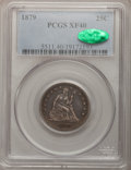 Seated Quarters: , 1879 25C XF40 PCGS. CAC. PCGS Population (2/207). NGC Census:(0/187). Mintage: 13,600. Numismedia Wsl. Price for problem f...