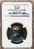 Proof Seated Half Dollars: , 1867 50C --Environmental Damage--NGC Details. Proof. NGC Census:(1/122). PCGS Population (7/128). Mintage: 625. Numismedia ...