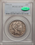 Barber Half Dollars: , 1901-O 50C AU50 PCGS. CAC. PCGS Population (1/38). NGC Census:(1/40). Mintage: 1,124,000. Numismedia Wsl. Price for proble...