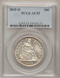 Seated Half Dollars: , 1843-O 50C AU55 PCGS. PCGS Population (12/40). NGC Census: (6/48).Mintage: 2,268,000. Numismedia Wsl. Price for problem fr...