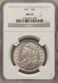 Bust Half Dollars: , 1817 50C AU53 NGC. NGC Census: (33/178). PCGS Population (40/160).Mintage: 1,215,567. Numismedia Wsl. Price for problem fr...