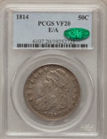 Bust Half Dollars: , 1814 50C E Over A VF20 PCGS. CAC. PCGS Population (1/61). NGCCensus: (0/0). Numismedia Wsl. Price for problem free NGC/PC...