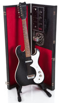 Musical Instruments:Electric Guitars, 1960s Silvertome Amp-In-Case Black Solid Body Electric Guitar#185-10010...