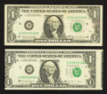 Error Notes:Error Group Lots, Fr. 1903-D $1 1969 Federal Reserve Note. Very Fine;. Fr. 1915-G $11988A Federal Reserve Note. Extremely Fine.. ... (Total: 2 notes)
