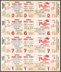 Baseball Collectibles:Tickets, 1964 Philadelphia Phillies World Series Phantom Tickets UncutSheet....