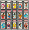 Basketball Cards:Lots, 1969 Topps Basketball PSA NM 7 Graded Collection (15)....