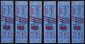 Football Collectibles:Tickets, 1964 Green Bay Packers vs. Cleveland Browns Full Tickets Lot of 6....