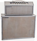 Musical Instruments:Amplifiers, PA, & Effects, 1960s Rickenbacker Silver Guitar Amplifier, #N/A.... (Total: 2Items)