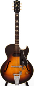 Musical Instruments:Electric Guitars, 1954 Gibson ES-175 Sunburst Archtop Electric Guitar, #A17076....