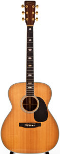 Musical Instruments:Acoustic Guitars, 1985 Martin J-40M Natural Acoustic Guitar, #456458....