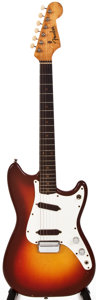 Musical Instruments:Electric Guitars, 1963 Fender Duo-Sonic Sunburst Solid Body Electric Guitar, #95649....