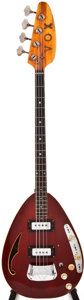 Musical Instruments:Bass Guitars, Late 1960s Vox Constellation IV Seethru Red Electric Bass Guitar, #377852....