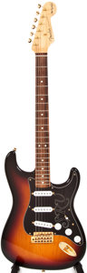 Musical Instruments:Electric Guitars, 2002 Fender Stratocaster SRV Sunburst Solid Body Electric Guitar, #SZ2201122....