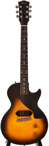 Musical Instruments:Electric Guitars, 1954 Gibson Les Paul Junior Sunburst Solid Body Electric Guitar,#44312....