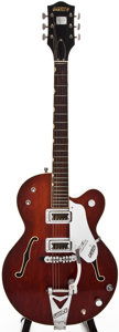 Musical Instruments:Electric Guitars, 1966 Gretsch 6119 Burgundy Semi-Hollow Body Electric Guitar,#126551....