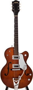 Musical Instruments:Electric Guitars, 1961 Gretsch Tennessean Burgundy Semi-Hollow Body Electric Guitar, #41936....