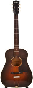 Musical Instruments:Acoustic Guitars, Late 1930s Gibson Sunburst Acoustic Guitar, #443....