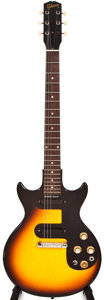 Musical Instruments:Electric Guitars, 1964 Gibson Melody Maker Sunburst Solid Body Electric Guitar,#162303....