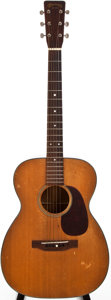 Musical Instruments:Acoustic Guitars, 1951 Martin 00-18 Natural Acoustic Guitar, #127127....