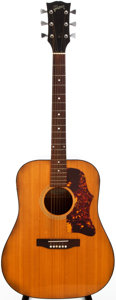 Musical Instruments:Acoustic Guitars, 1973-75 Gibson J-55 Natural Acoustic Guitar, #A600245....